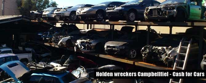 holden wreckers Campbellfied